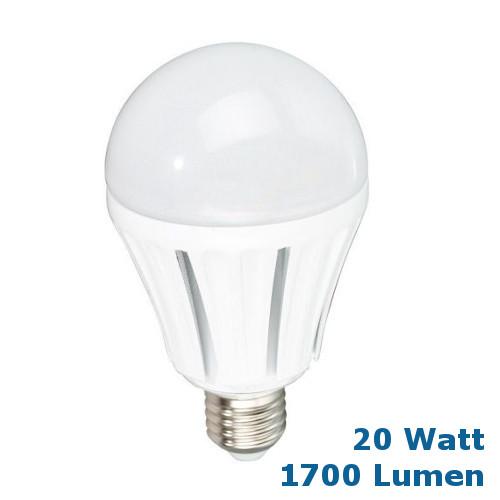 Sehr helle LED Glühbirne E27 20 Watt = 1700 Lumen ...