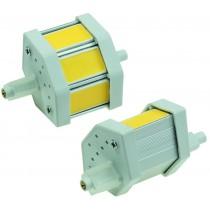 "LED Strahler R7s ""COB5-WW"", 3 COB-LEDs, 2900k, 350lm, 78mm, dimmbar, warmweiß"