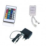 RGB LED Leisten SET 100cm inkl. RGB Controller + Fernbedienung u. Netzteil - IP