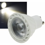 "LED Strahler GU10 ""H60 COB Dimmbar"", 4000k, 560lm, 230V/7W, neutralweiß"