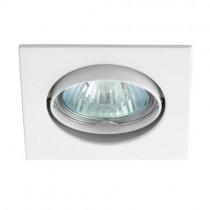 LED-Einbauspot, Einbauring quadratisch, weiss schwenkbar aus ALU-Legierung BØ75mm