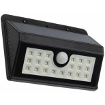 Solar Wandleuchte +Bewegungsmelder SWL20, 20 LEDs, 300lm, IP44, Akku