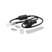 LED Lichtschlauch Anschlusskabel Set 230V mit 1m Kabel, Endkappe und Schrumpfschlauch GIVRO - IP44