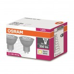Osram® LED Strahler GU10 - 5 Watt = 50W Halogen PAR16 50 36° warmweiss 2700K DOPPELPACK