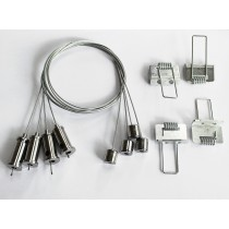 Bioledex® Seilsystem für LED Panel Deckenaufhängung inkl. Decken-Einbaukit