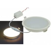 LED Panel rund 10W = 800 Lumen 2900K warmweiss IP54 230V 50Hz inkl. LED Treiber / Trafo (auch Feuchtraum)