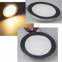 LED Einbaustrahler, Einbaupanel, Bodeneinbaustrahler rund Ø55mm, IP67 Wasserschutz, warmweiss, trittfest