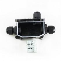Kabel Verbindungsbox IP65 Wasserdicht 3-fach T-Stück - zum einfachen Verbinden von Kabeln