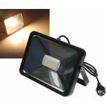 """LED-Fluter SlimLine """"CTF-SL50B"""" schwarz, 50W, IP44, 3600 Lumen, 3000K, warmweiß"""