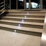 6er Set LED Wandeinbaustrahler warmweiss LED Treppenleuchte Edelstahl, quadratisch IP54 für 230V