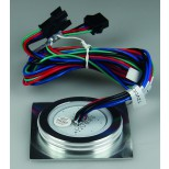 "LED Einbauleuchte ""EBL Slim RGB Q"", IP67, 6 RGB LEDs, Alu matt, 55x55mm"