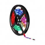 5m (500cm) RGB LED Strip, LED Band mit 150 Power RGB LED Chips, dimmbar, teilbar - INDOOR IP20