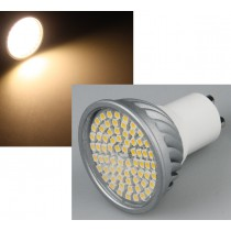 "LED Strahler GU10 ""H50 Pro"" 70 SMD LEDs, 3000k, 385lm, 120°, 230V/5W, warmweiß"