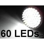 LED Strahler 60 LEDs Sockel GU10/GZ10 - 230 Volt, Ø50mm, 6500K, 260 Lumen