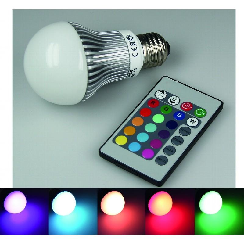 RGB LED Birne / Lampe 5W mit E27 Fassung & online kaufen   green ...