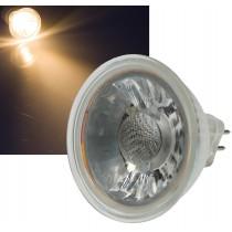 "LED Strahler MR16 ""H50 COB"", 1 COB, 3000k, 400lm, 12V/5W, warmweiß"