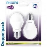 Doppelpackung 2er Sparset CorePro LEDbulb / Birne 9W = 60 Watt, 806 Lumen 2700K warmweiss Philips®