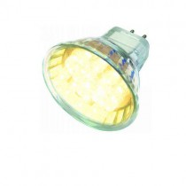 LED Strahler Leuchtmittel 21 LEDs 12V AC / DC MR16 GU5.3 warmweiss mit Schutzlgas