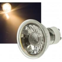 """LED Strahler GU10 """"H50 COB"""", 1 COB, 3000k, 400lm, 230V/5W, warmweiß"""