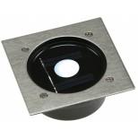 SOLAR LED Bodeneinbaustrahler Edelstahl, quadratisch bis max. 2000Kg befahrbar IP44