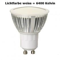 LED Leuchtmittel GU10 4,5 Watt = 520 Lumen weiss 6400K, 120 Grad
