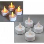 4er LED Kerzen SET, LED Teelichter flackern wie echte Kerzen, LED Kerzen mit Batterie & Luftzugsensort