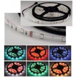 LED-Stripe RGB, 2m lang, 60 LEDs, 12V, 13W, IP44,  weiße Platine