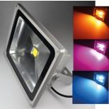 "LED-Außenstrahler / Fluter ""CTF-50W RGB"", IP44, 230V, RGB mit Fernbedienung"
