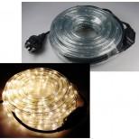 LED Lichtschlauch, Lichterschlauch 10M Meter warmweiss 15 Watt, inkl. Kabel und Stecker, IP44 Schutzklasse