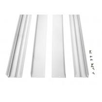 Bioledex Aufbaurahmen für LED Panels 1200x300mm (120x30cm) weiss, Wand & Deckenmontage