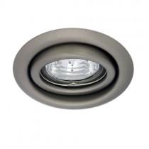 LED Einbaustrahler, Deckeneinbaustrahler, Einbauspot schwenkbar, chrom matt - BØ80-90mm