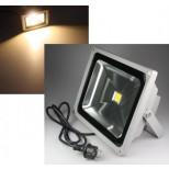 LED Fluter, LED Scheinwerfer 50 Watt = 4000 Lumen, IP44, 3000K, 25.000h, warmweiss