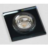"""Decken-Einbaustrahler """"Crystal Q90"""", starr, 90x90mm, für 50mm Lampen, schwarz"""