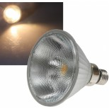 PAR38 LED Strahler E27, 13W = 980 Lumen mit COB LED Chip 45° warmweiss / tageslichtweiss PAR 38 Bauform