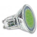 LED Strahler GRÜN mit GU10 Sockel 230V, bunter LED Spot GRÜN 1,4 Watt Leistung