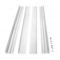 Bioledex Aufbaurahmen für LED Panels 620x620mm (62x62cm) weiss für Wand & Deckenmontage