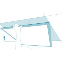 Bioledex® LED Panel 625 x 625mm quadratisch 38 Watt = 2800 Lumen 5000K tageslichtweiss, flach / slim